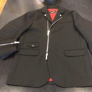 Dsquared2 Men's Wool Coat with zip closure